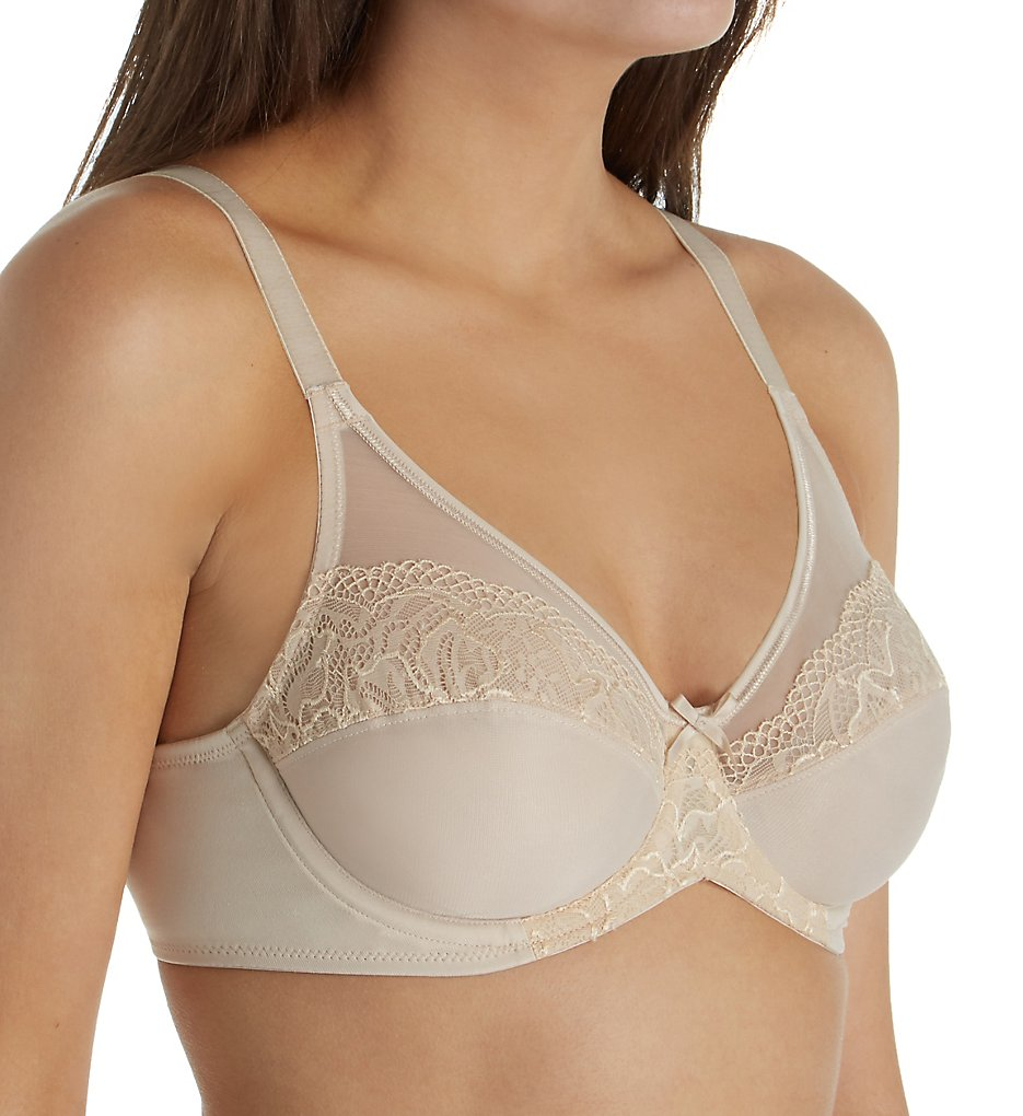 Lilyette LY0444 Ultimate Smoothing Minimizer Underwire Bra (Paris Nude)