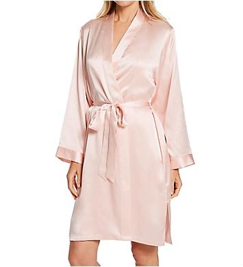 Linda Hartman Classic Silk Short Kimono Robe