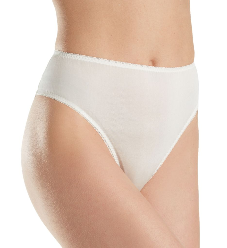 Linda Hartman Silk Knit High Cut Brief Panty