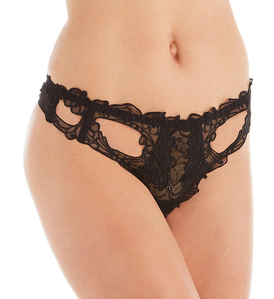 Lise Charmel - Lise Charmel ACA0903 Soir De Venise Sexy Thong Panty (Noir Diamant XS)