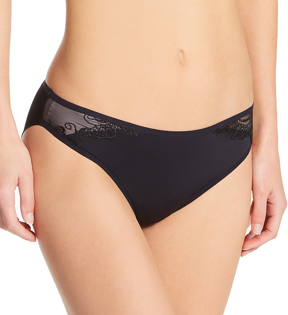 Lise Charmel - Lise Charmel ACC0188 Dressing Floral Low Waist Brief Panty (Black XS)