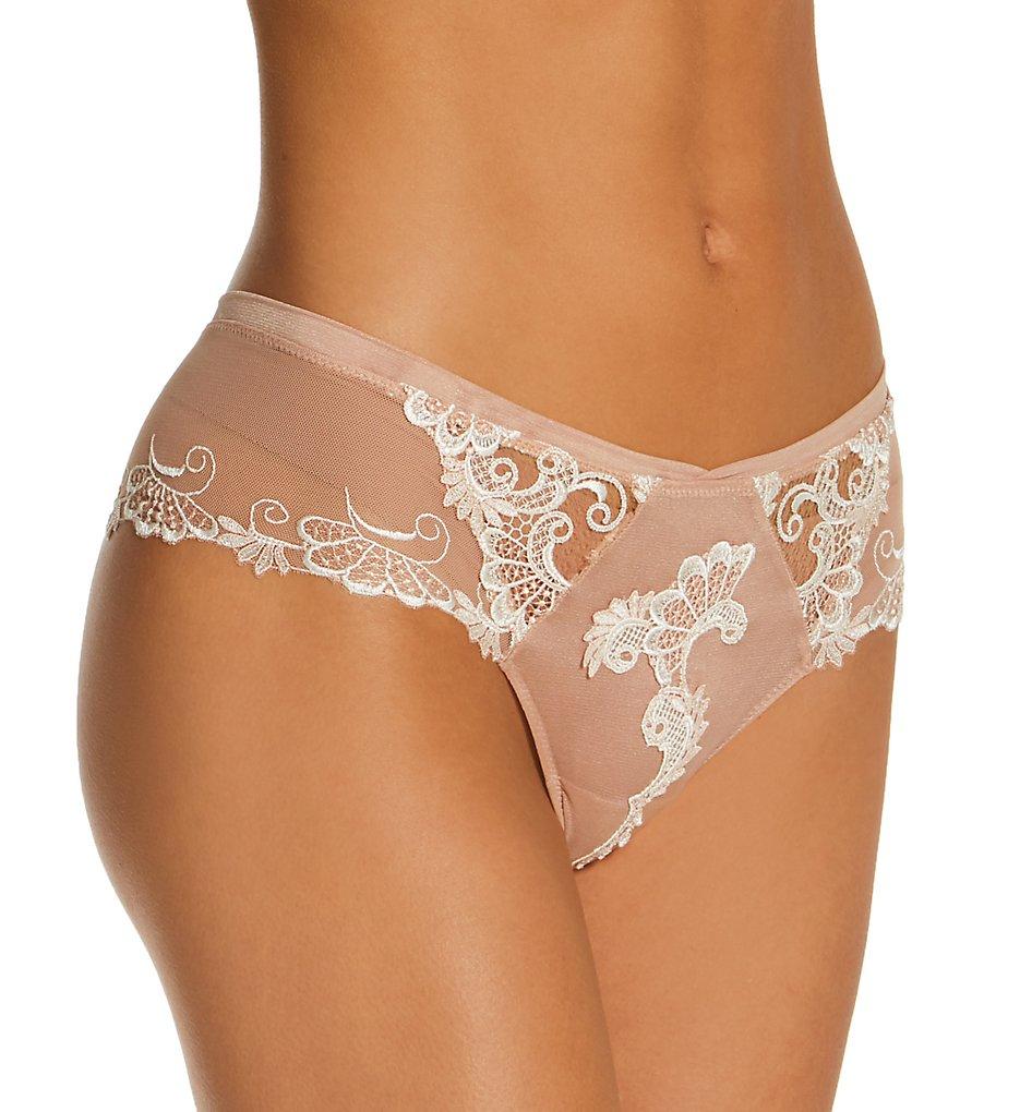 Lise Charmel - Lise Charmel ACC0488 Dressing Floral Boyshort Panty (Ambre Nude XS)