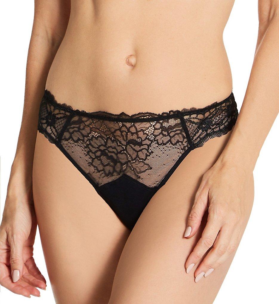 Lise Charmel - Lise Charmel ACH0013 Sublime En Dentelle Thong Panty (Black XS)