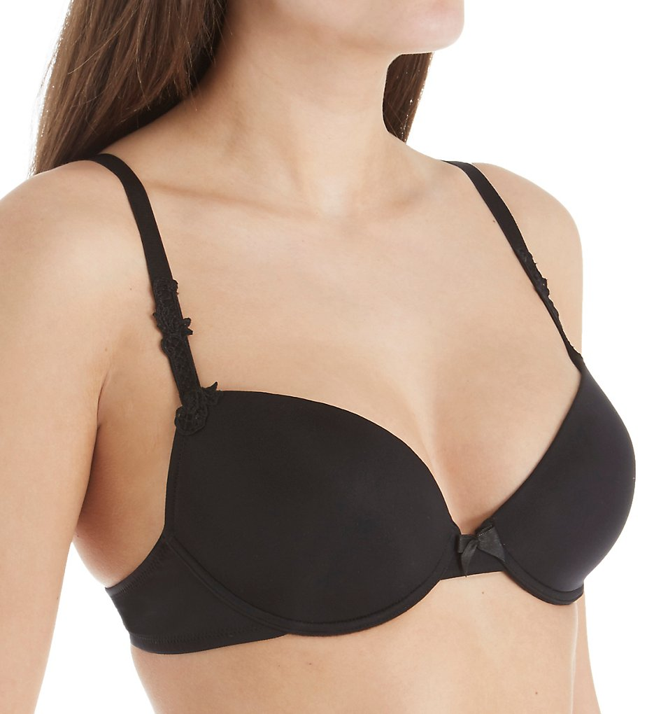 Lise Charmel >> Lise Charmel CCC8089 Antinea Essential Convertible Fit T-Shirt Bra (Black 30D)