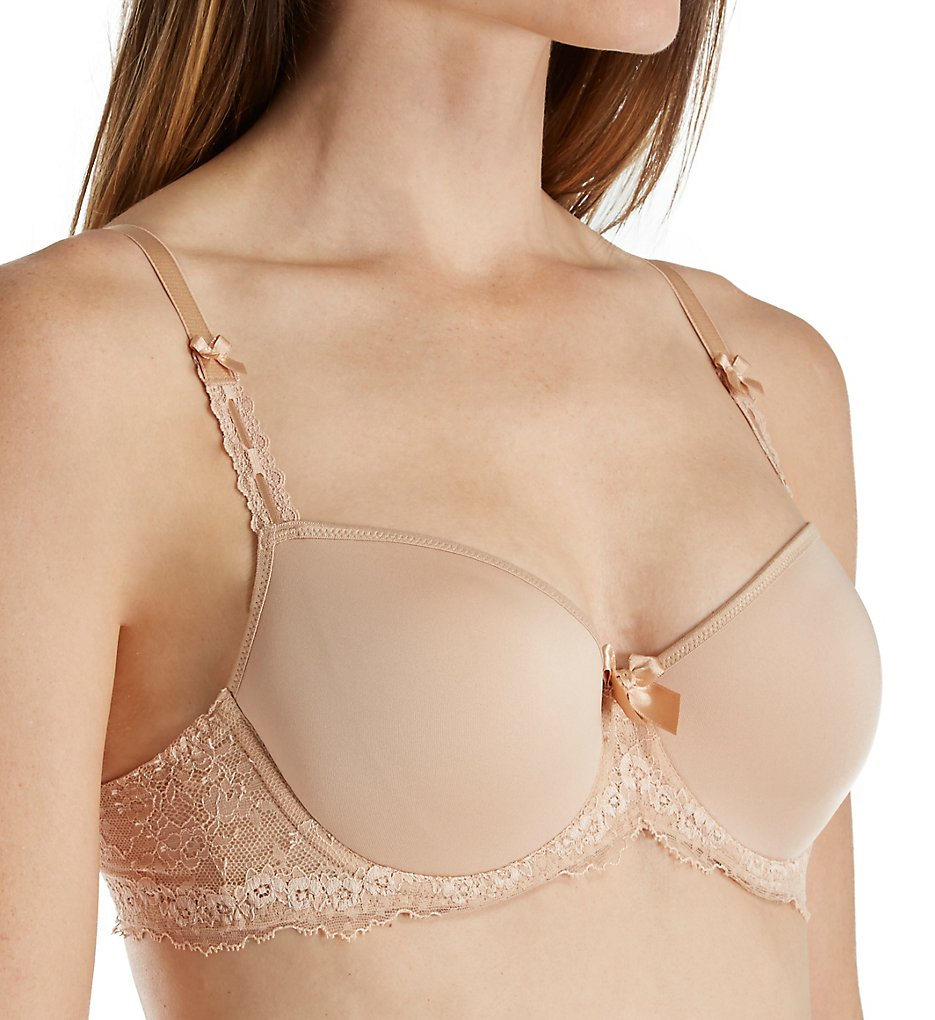 Lise Charmel - Lise Charmel DCC2637 Antinea Cherie 3D Spacer Cup Lace Sides Bra (Nude 30D)