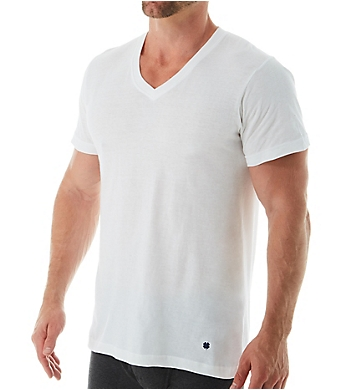 Lucky Cotton Jersey Slim Fit V-Neck T-Shirts - 3 Pack