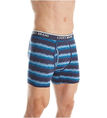 Lucky Cotton Stretch Jersey Boxer Briefs - 3 Pack