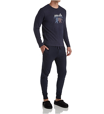 Lucky Long Sleeve Thermal & Jogger Sleep Set
