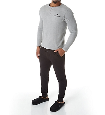 Lucky Thermal Henley & Jersey Jogger Set