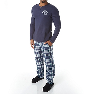 Lucky Long Sleeve Henley & Flannel Pant Set