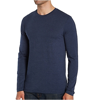 Lucky Long Sleeve Cotton Stretch Crew Neck T-Shirt