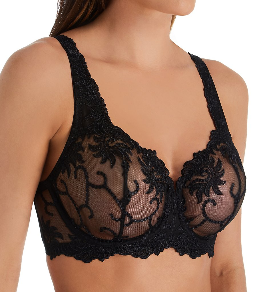 Lunaire - Lunaire 14011 Sevilla Embroidered Demi Bra (Black 32C)
