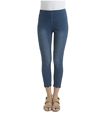 Lysse Leggings Scallop Edge Denim Legging