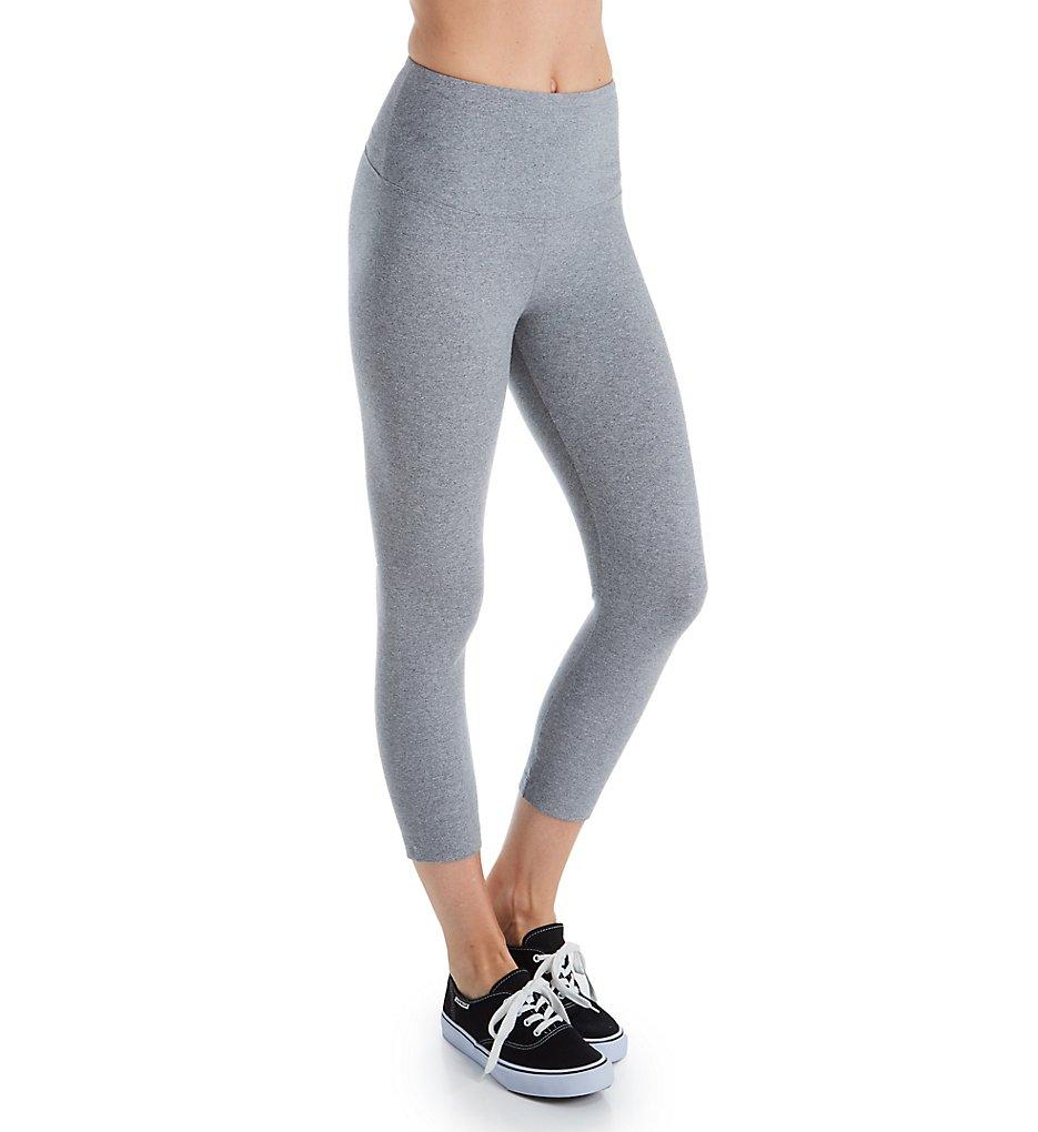 Lysse Leggings 2281 Flattering Cotton Crop Legging (Grey Melange)