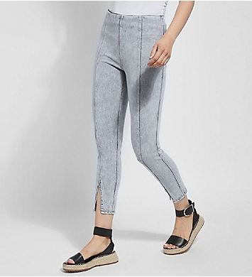 Lysse Leggings Evelyn Split Denim Crop Shaping Legging
