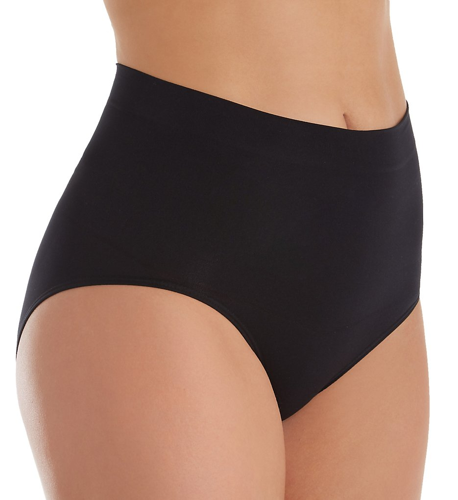 Magic Bodyfashion >> Magic Bodyfashion 40BR Seamless Comfort Shaping Brief Panty (Black S)