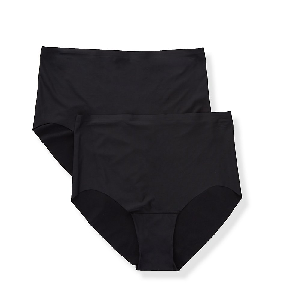 Magic Bodyfashion >> Magic Bodyfashion 46HT Dream Invisibles Brief Panty - 2 Pack (Black S)
