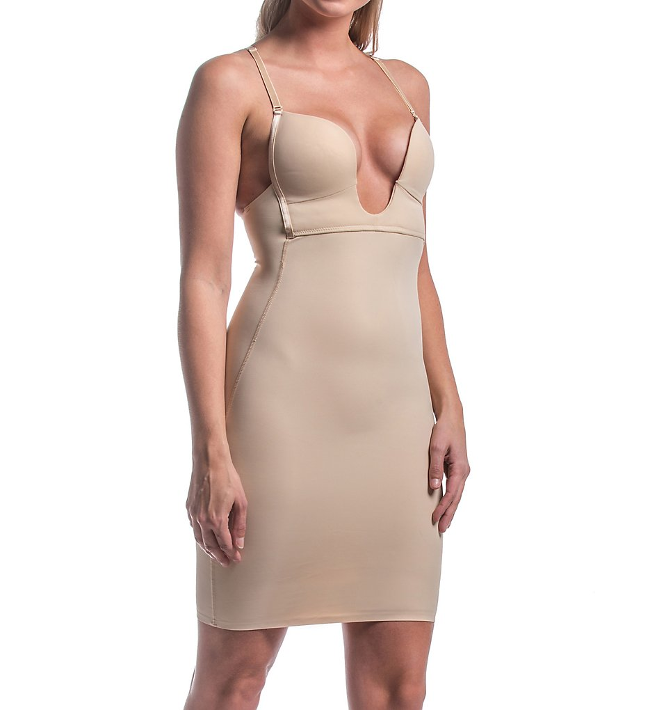 Magic Bodyfashion - Magic Bodyfashion 51DR V-Collection Medium Control Shaping Dress (Latte 34B)