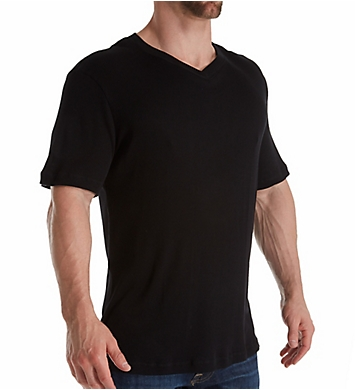 Magic Silk Silk Blend Ribbed V-Neck T-Shirt