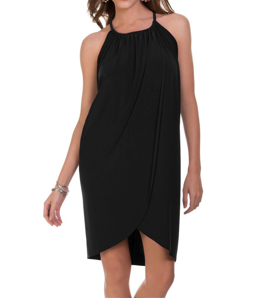 MagicSuit Draped Cover Up Dress