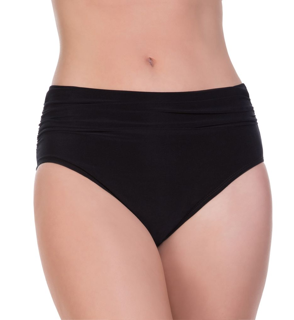 MagicSuit Solids Jersey Brief Swim Bottom with Shirring