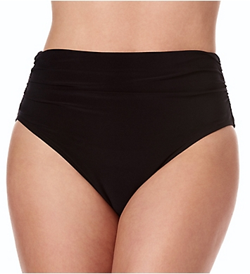 MagicSuit Solid Jersey Shirred Brief Swim Bottom