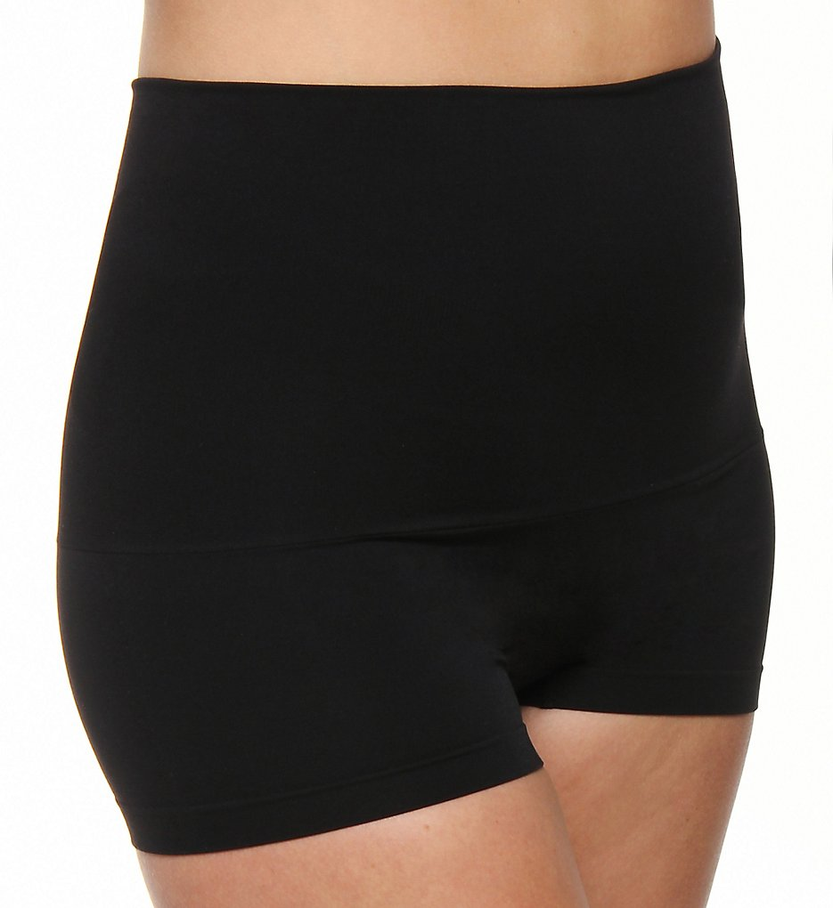 Maidenform - Maidenform 12555 Slim Waisters High Waist Boyshort (Black S)