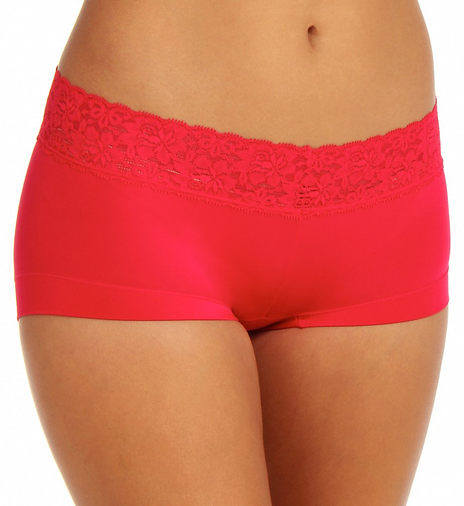 Maidenform - Maidenform 40813 Dream Micro Boyshort Panty with Lace (Camera Red-Y 5)