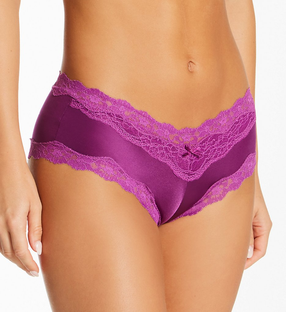 Maidenform - Maidenform 40823 Cheeky Microfiber Hipster Panty with Lace (Venetian/Magenta 9)