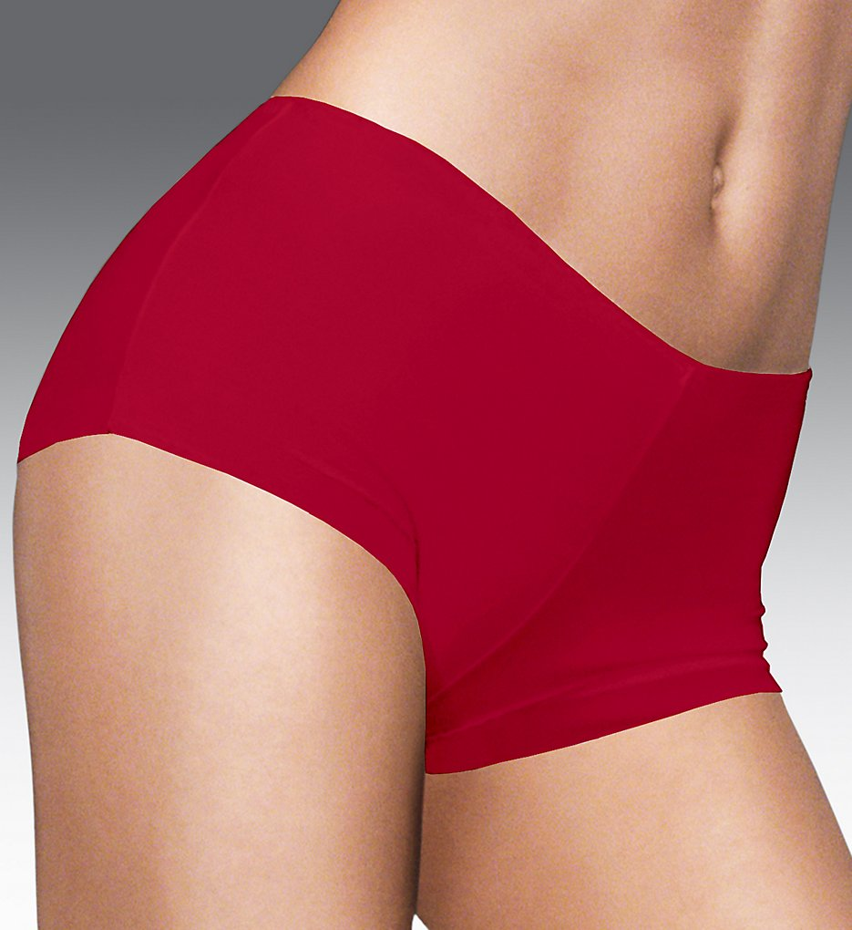 Maidenform - Maidenform 40862 Comfort Devotion Tailored Boyshort Panty (Camera Red-Y/Black 5)