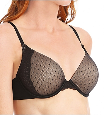 Maidenform Custom Lift Natural Boost Point d'Esprit Demi Bra