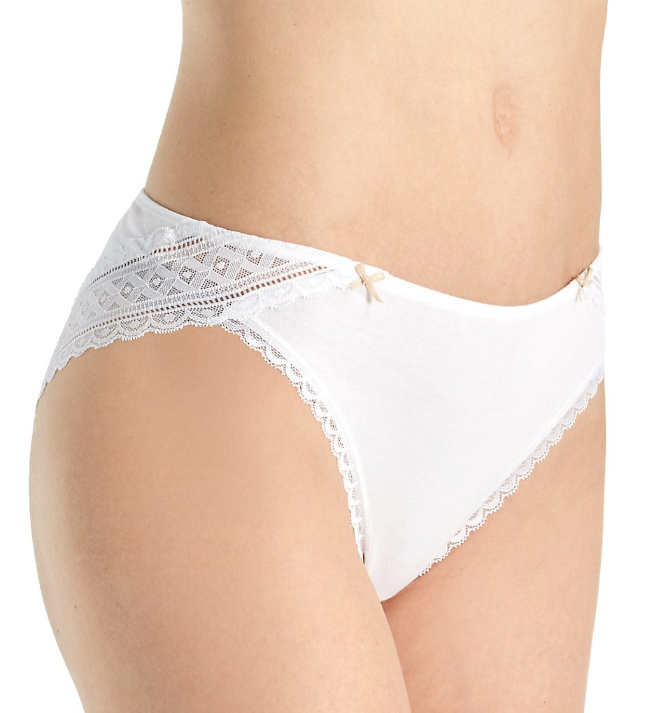 Maidenform - Maidenform CS59 One Fab Fit Cotton Stretch Tanga Panty (White 5)