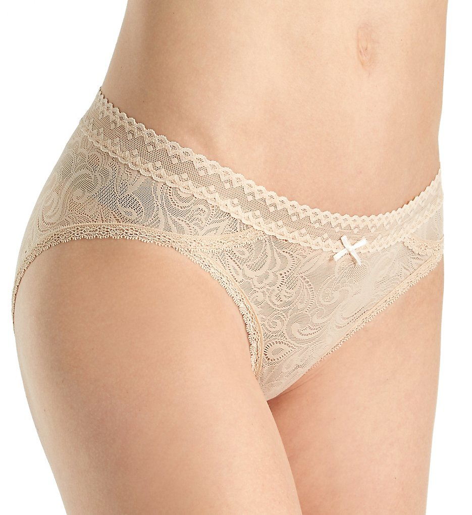 Maidenform - Maidenform DM0016 Micro Cheekini Panty with Lace (Latte Lift 5)
