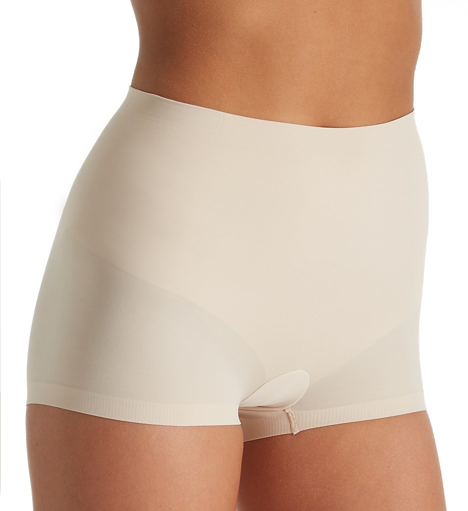 Maidenform - Maidenform DM0034 Cover Your Bases Boyshort Panty with Cool Comfort (Nude 1/Transparent S)