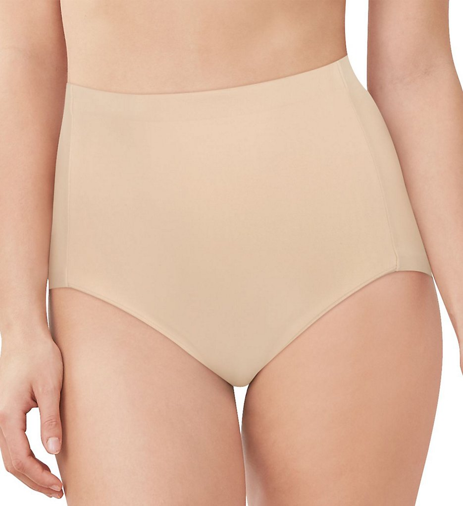 Maidenform - Maidenform DM0036 Cover Your Bases High Waist Brief Panty (Nude 1/Transparent S)