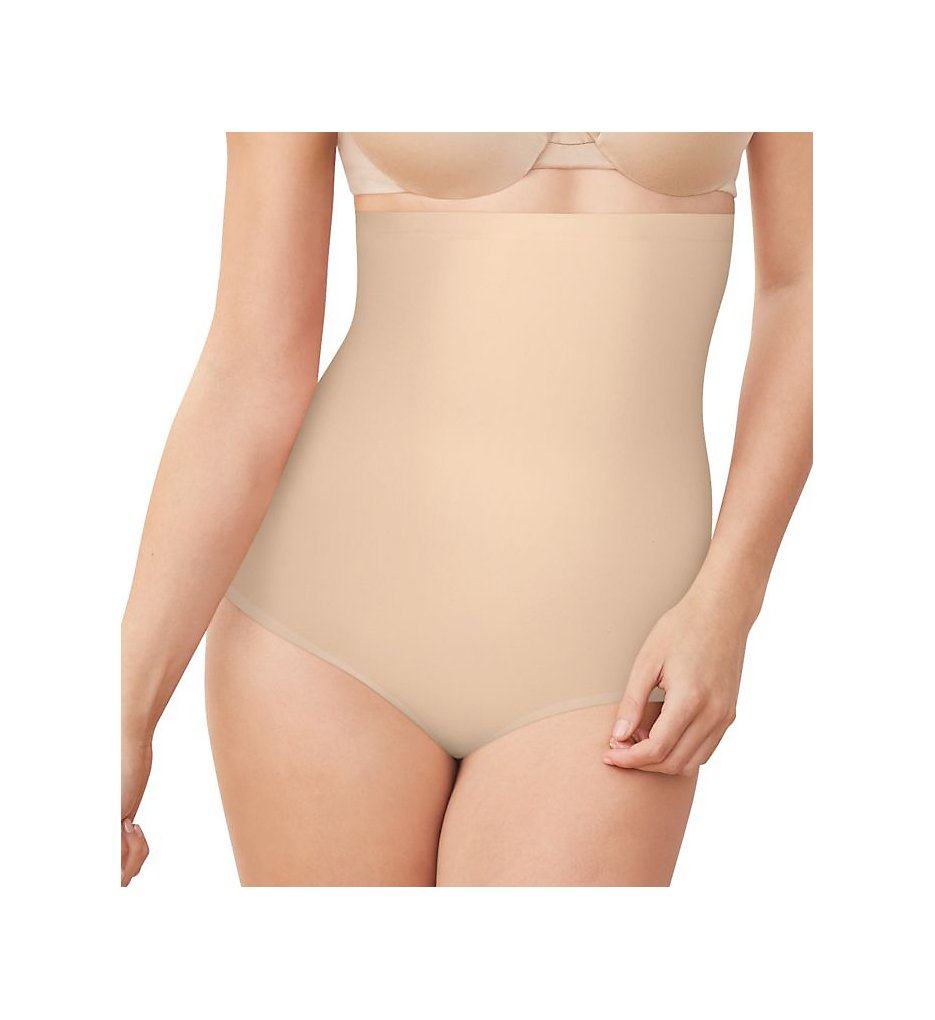 Maidenform - Maidenform DM0037 Cover Your Bases High Waist Brief w/ Cool Comfort (Nude 1/Transparent S)