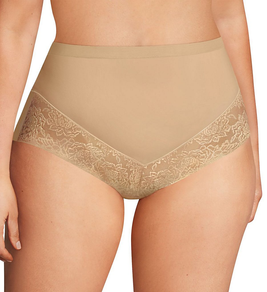 Maidenform - Maidenform DM0045 Firm Foundations Curvy At-Waist Plus Brief Panty (Body Beige 1X)