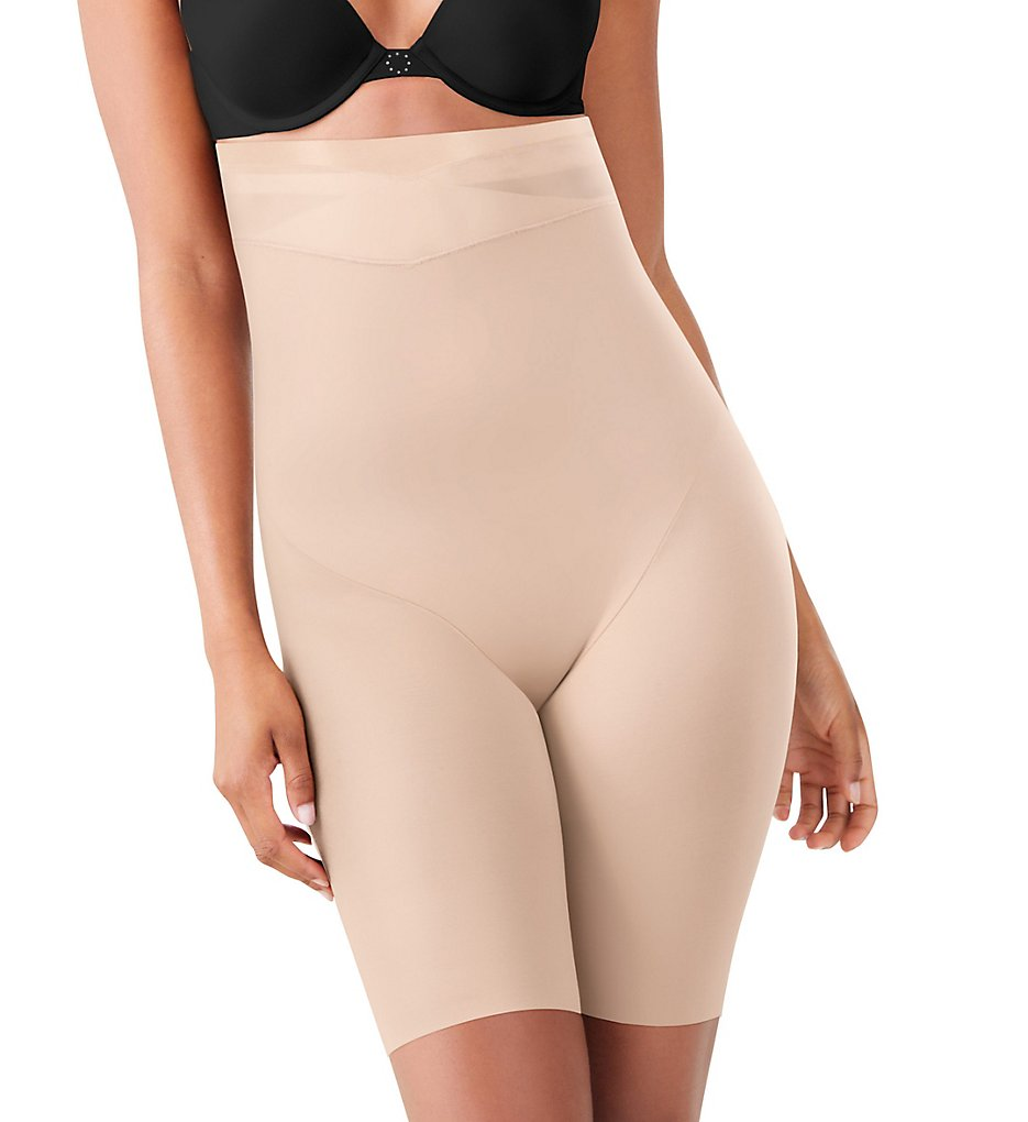 Maidenform - Maidenform DM0047 Skin Spa High Waist Thigh Slimmer (Nude 1/Transparent S)