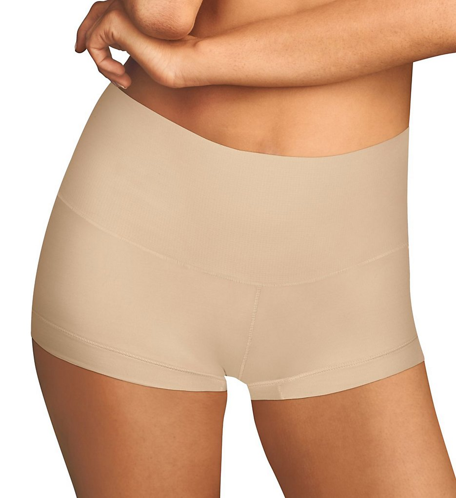 Maidenform - Maidenform DM0050 Tame Your Tummy Boyshort Panty (Nude 1/Transparent XL)