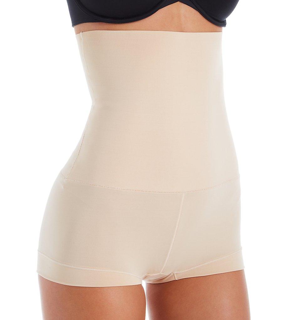 Maidenform - Maidenform DM0701 Tame Your Tummy High Waist Boyshort Panty (Nude 1/Transparent XL)