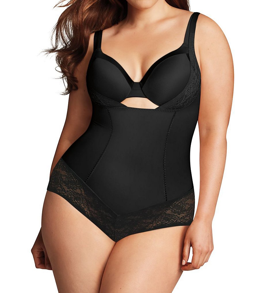 Maidenform - Maidenform DM1025 Firm Foundations Curvy Body Shaper w/ Cool Comfort (Black 1X)