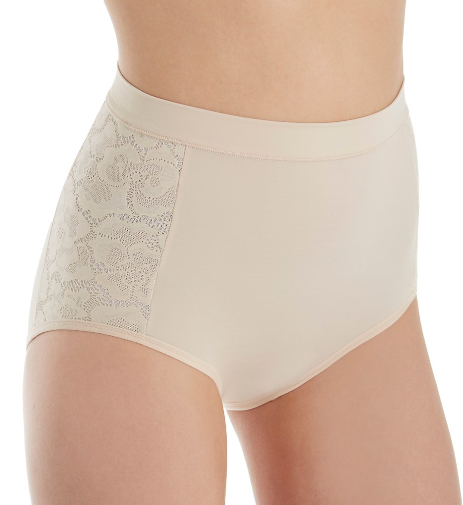Maidenform - Maidenform DM1028 Firm Foundations Tummy Tamers Brief Panty (Nude 1/Transparent S)