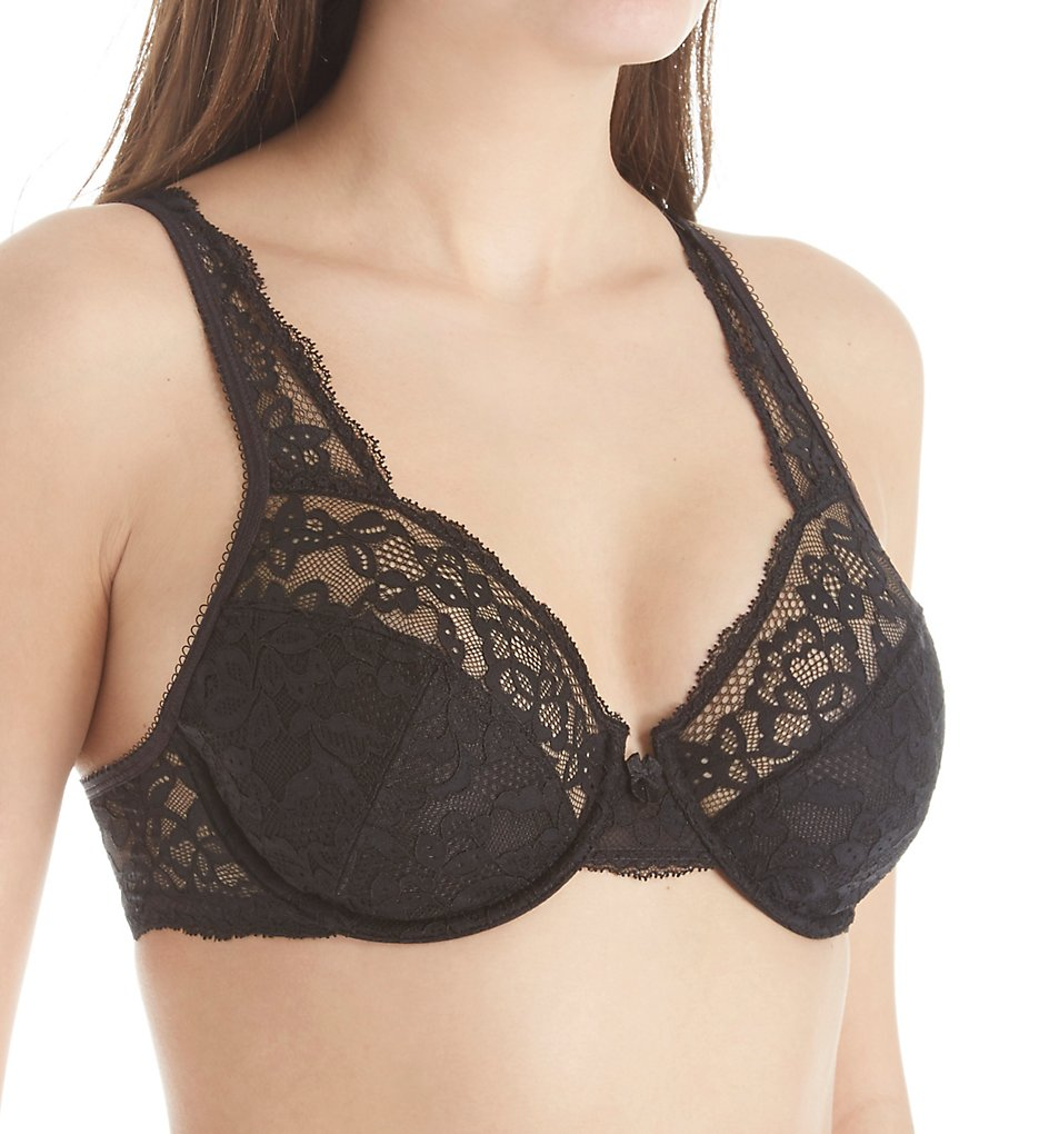 Maidenform - Maidenform DM9600 Modern Beauty Lace Unlined Underwire Bra (Black 32B)