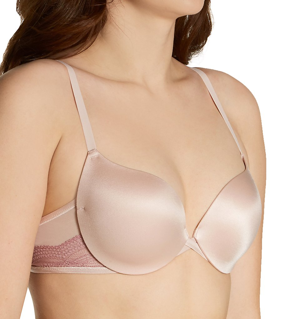 Maidenform - Maidenform DM9900S Love The Lift Push Up & In Satin and Lace Demi Bra (Sandshell w/HoneyBlush 40C)