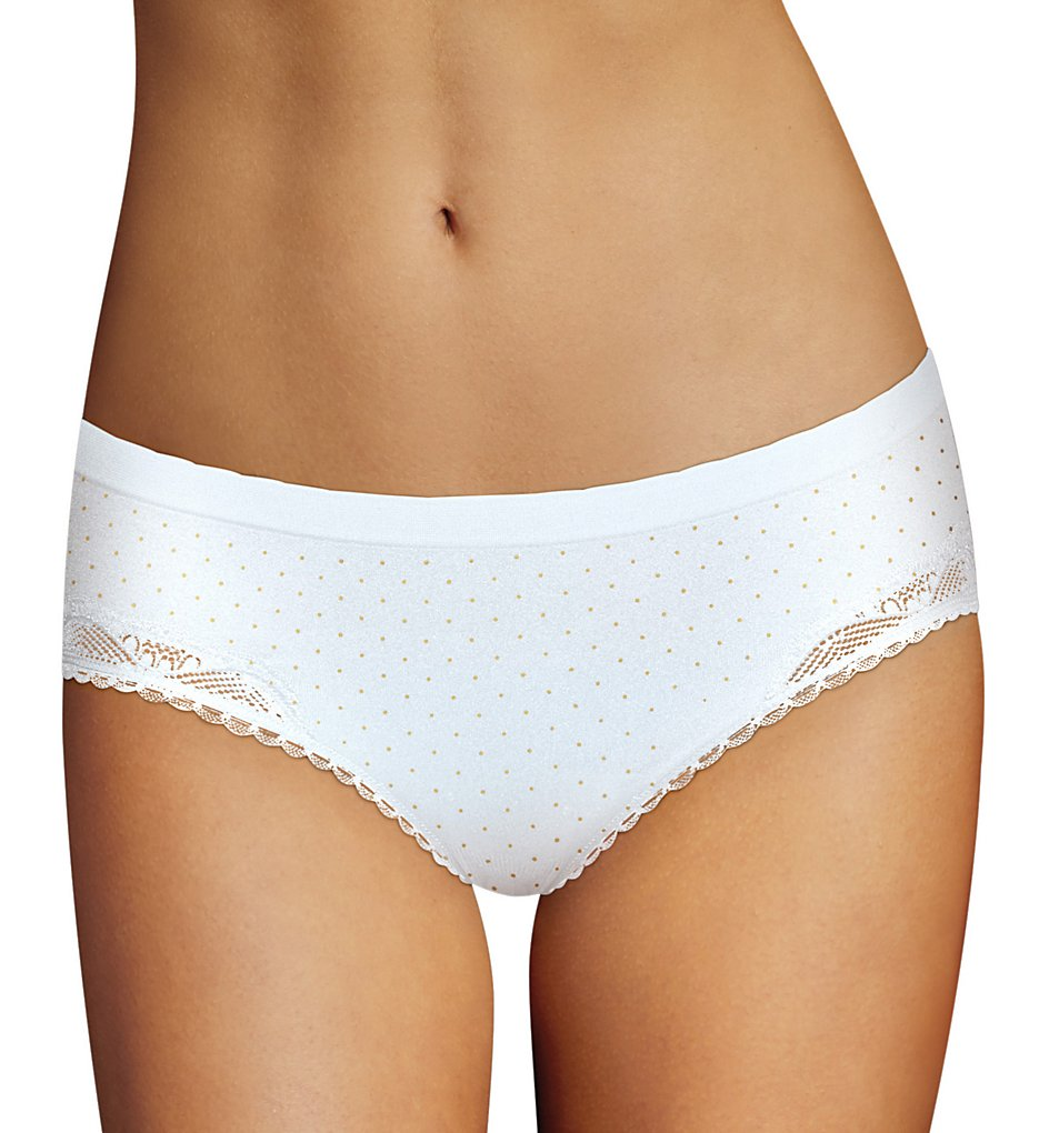 Maidenform - Maidenform DMCCSH Casual Comfort Seamless Hipster Panty (Latte White/Pin Dot 5)