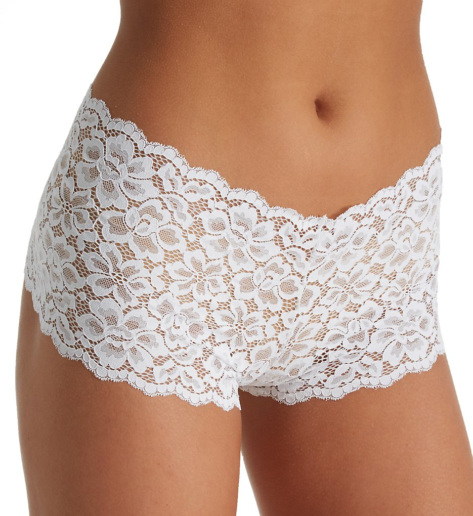 Maidenform - Maidenform DMCLBS Sexy Must Haves Lace Cheeky Boyshort (White 5)