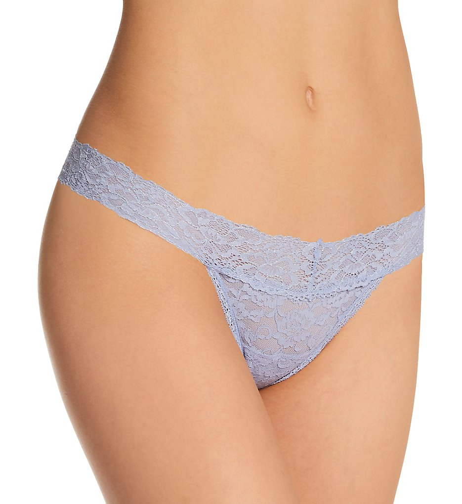 Maidenform - Maidenform DMESLT Sexy Must Haves Lace Thong (Silver Blue/Metallic 9)