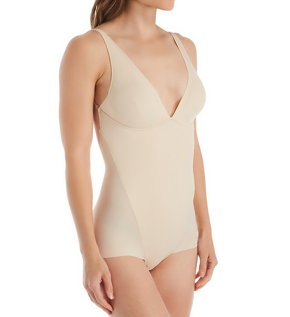 Maidenform - Maidenform DMS084 Cover Your Bases Shaping Low-Back Bodysuit (Nude 1/Transparent XL)