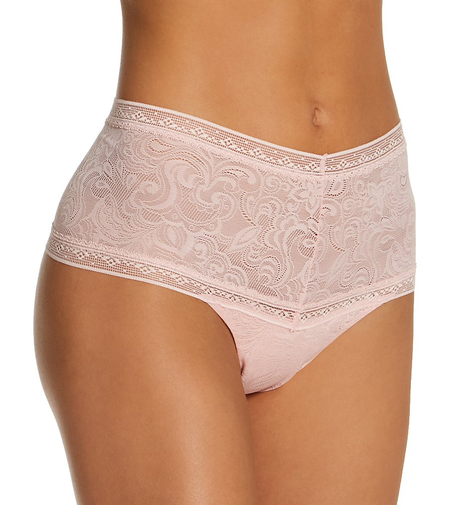 Maidenform - Maidenform DMTSTG Everyday Smooth High Waist Lace Thong (Sheer Pale Pink 5)