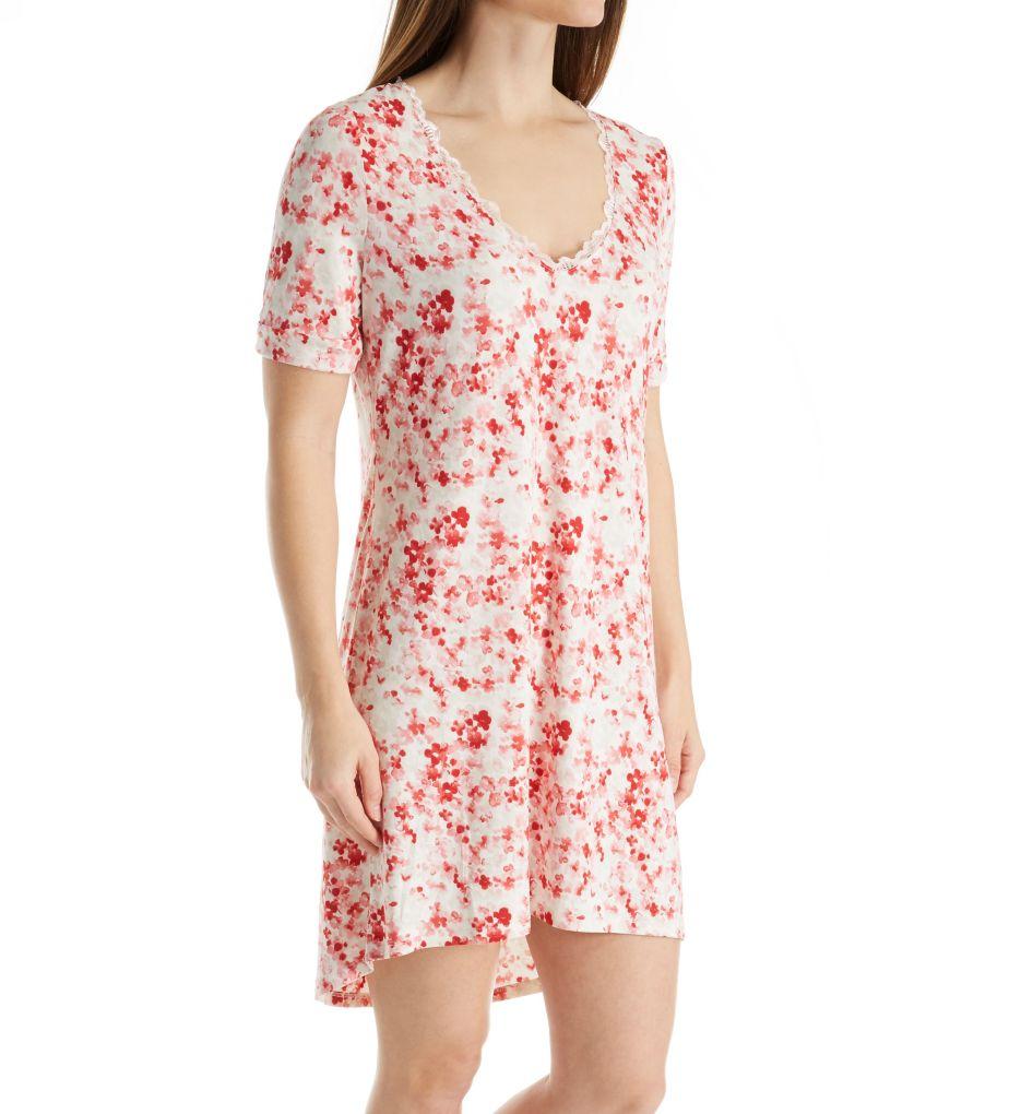 Maidenform Floral Bloom Lace Trim Sleepshirt